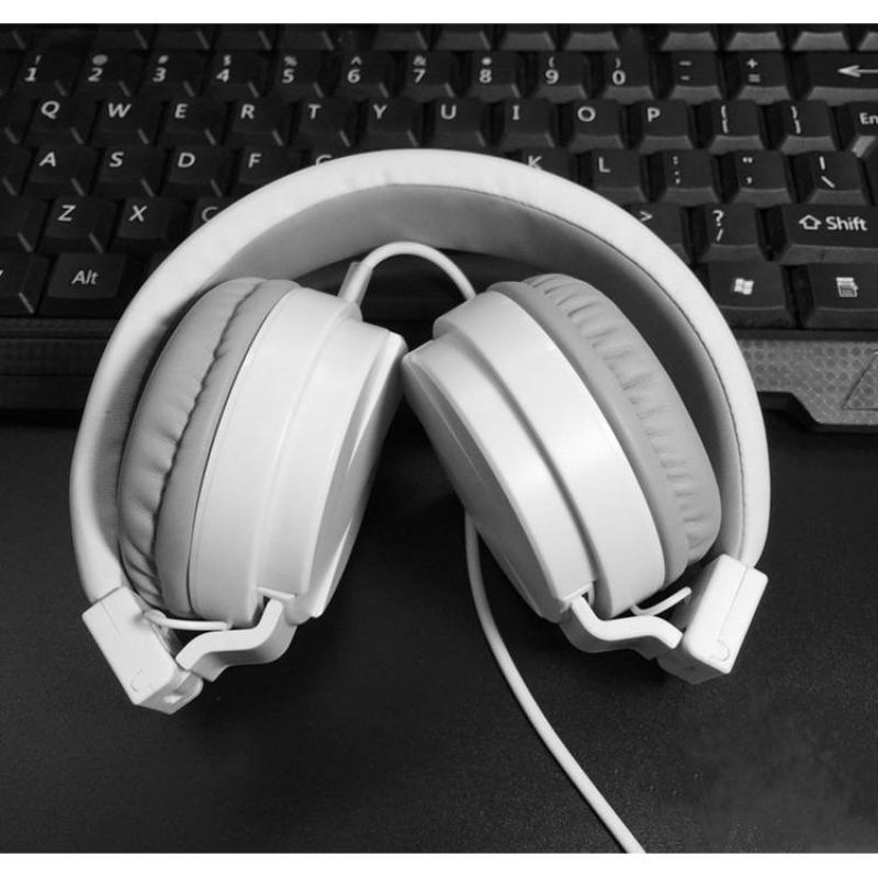 Tai nghe chụp tai Pro One trắng ( Có thể gấp gọn)
