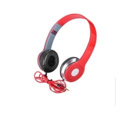 tai nghe chụp tai stereo headset (đỏ)