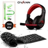 Chiết Khấu Tai Nghe Game Thủ Ovann X4 Pro Gaming Đỏ Ban Phim Silicon Va Led Usb Ovann