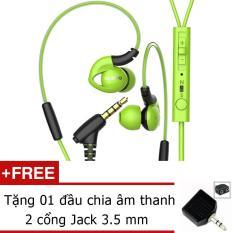 Bán Tai Nghe Inear Sport Nubwo Ny51 Xanh Tặng Jack Am Thanh 3 5Mm Rẻ Trong Hồ Chí Minh