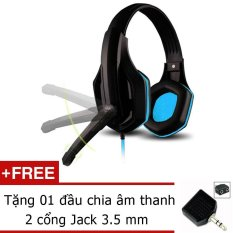 Tai Nghe Ovann X1S Pro Gaming Đen Xanh Tặng Jack Chia Am Thanh 2 Cổng 3 5Mm Nguyên