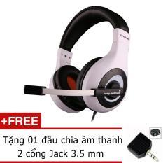 Bảng giá Tai nghe Ovann X4 Pro Gaming Headsets Ovann X4 (Đen phối trắng) + Tặng đầu chia âm thanh 2 cổng Jack 3.5mm Phong Vũ