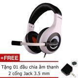 Giá Bán Tai Nghe Ovann X4 Pro Gaming Headsets Ovann X4 Đen Phối Trắng Jack Chia Tai Nghe 3 5Mm Mới
