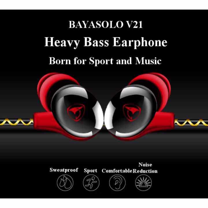 Tai nghe thể thao EAR Sport BayaSOLO V21 Super Bass Earphone Lite