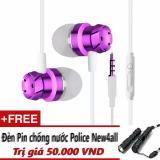 Ôn Tập Tốt Nhất Tai Nghe Thời Trang New4All Basic Piston Purple Tặng Đen Pin New4All Chống Ướt Mưa