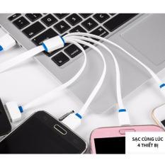 Hình ảnh Tẩu sạc 2 cổng USB trên ô tô + Dây sạc các loại điện thoại và máy tính bảng