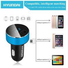 Hình ảnh Tẩu sạc oto, xe hơi USB HYUNDAI xịn by Agiadep (có đồng hồ LED điện áp HY36)