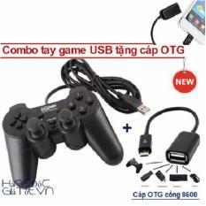 Tay cầm chơi game cho điện thoại - Tay cầm chơi game USB tặng OTG Nhật Bản