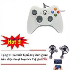 Tay cầm chơi game chuyên nghiệp Xbox 360 có dây Tặng nút điều khiển Game