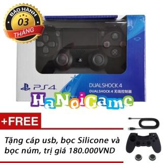 Tay cầm chơi game PS4 Slim Pro Dualshock 4 (Đen) thumbnail