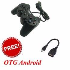 Hình ảnh Tay cầm chơi game PC, Mac gamepad có 2 joystick + Cáp OTG Android