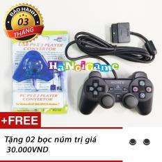 Tay cầm PS2 và bộ chuyển chơi trên PC (Đen)