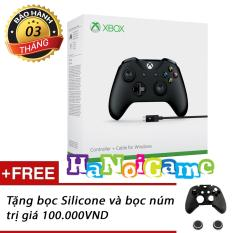 Hình ảnh Tay chơi game Xbox One S kèm dây cáp USB (Đen)