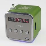 TD-V26 Loa có FM Radio, Bổ Trợ, và Micro USB Khe Cắm Thẻ (Xanh) WWang Store-quốc tế