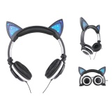 Mua The Best Quality Ttlife The Fashion Foldable Flashing Glowing Cat Ear Headphones Gaming Headset Earphone With Led Light For Pc Laptop Computer Mobile Phone Black Rẻ Trung Quốc