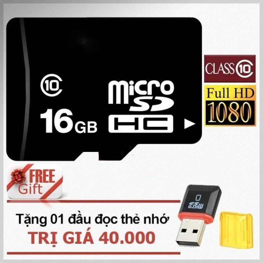 Thẻ nhớ 16GB Micro SDHC C10 + Tặng đầu đọc thẻ nhớ Micro (Mẫu ngẫu nhiên) - Nhất Tín Computer
