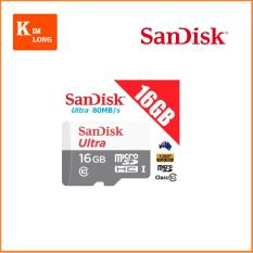 Giá Bán Thẻ Nhớ 16Gb Micro Sdhc Ultra C10 80 Mb S Sandisk Chinh Hang Rẻ Nhất