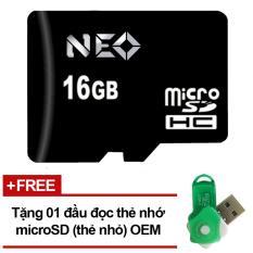 Thẻ nhớ 16GB NEO micro SDHC -  Tặng đầu đọc micro