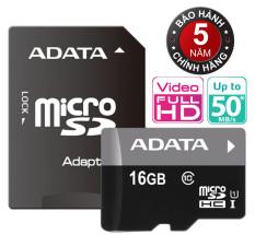 Giá Bán Thẻ Nhớ 16Gb Tốc Độ Cao Up To 50Mb S Micro Sdhc Adata Uhs1C10 Va Adapter Tặng 1 Đầu Đọc Thẻ Nhớ Mẫu Ngẫu Nhien Tốt Nhất