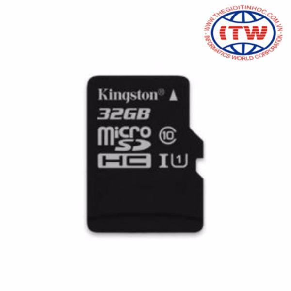 Thẻ nhớ 32GB Kingston TỐC ĐỘ CAO Micro SDHC UHS1 Class10 - Hãng Phân Phối Chính Thức
