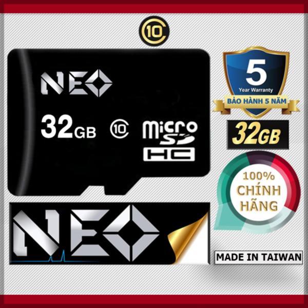 Thẻ nhớ 32GB NEO MicroSDHC Class 10  (Đen) - Hãng Phân phối chính thức