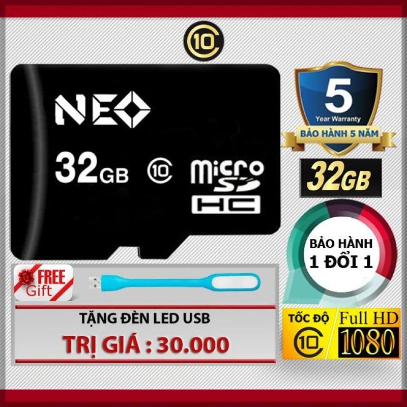 Thẻ nhớ 32GB NEO MicroSDHC Class 10 + Tặng đèn LED
