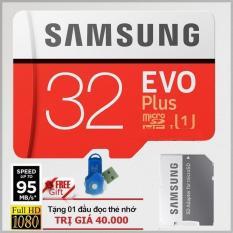 Giá Bán Thẻ Nhớ 32Gb Tốc Độ Cao Microsdhc Samsung Evo Plus Adapter Mau Đỏ Đầu Đọc Thẻ Nhớ Micro Mẫu Ngẫu Nhien Tốt Nhất