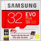 Giá Bán Thẻ Nhớ 32Gb Tốc Độ Cao Microsdhc Samsung Evo Plus Adapter Mau Đỏ Đầu Đọc Thẻ Nhớ Micro Pt Rẻ