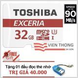 Chiết Khấu Sản Phẩm Thẻ Nhớ 32Gb Tốc Độ Cao Up To 90Mb S Toshiba Uhs 3 Micro Sdhc Class10 Tặng 1 Đầu Đọc Thẻ Nhớ Micro Pt