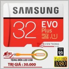 Giá Bán Thẻ Nhớ 32Gb Tốc Độ Cao Up To 95Mb S Microsdhc Samsung Evo Plus Mau Đỏ Đen Led Usb Samsung Nguyên