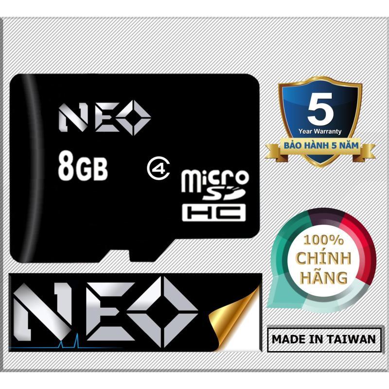 Thẻ nhớ 8GB NEO micro SDHC - Bảo hành 5 năm 1 đổi 1