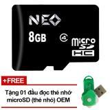 Bán Thẻ Nhớ 8Gb Neo Micro Sdhc Đen Hang Phan Phối Chinh Thức Tặng Đầu Đọc Micro Pt Neo Rẻ