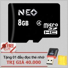 Thẻ nhớ 8GB NEO micro SDHC - Hãng phân phối chính thức + tặng đầu đọc micro PT