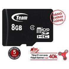 Thẻ nhớ 8GB Team MicroSDHC (Đen) - Hãng phân phối chính thức + tặng Đồ Chơi Con Quay 3 cánh Giúp Xả Stress Fidget Spinner  (màu ngẫu nhiên)