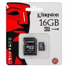 Bán Mua Trực Tuyến Thẻ Nhớ Kingston Micro Class 10 16Gb Kem Adapter