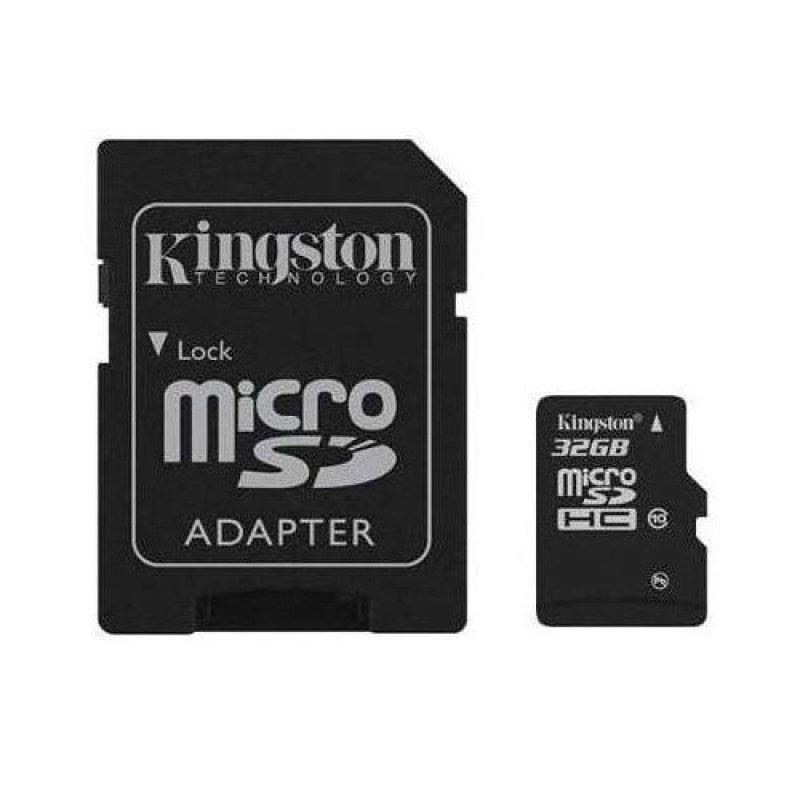 Thẻ nhớ Kingston MicroSD 32GB Class 10 UHS-1 có Adapter SD (Tốc Độ Đọc 80 MB/s)