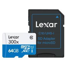 Bán Thẻ Nhớ Lexar 64Gb Class 10 Uhs I U1 Microsdxc Kem Sd Adapter Nguyên