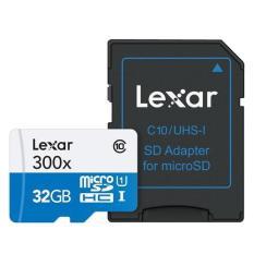 Bán Thẻ Nhớ Lexar Microsdhc 300X 32Gb Uhs I U1 Kem Sd Adapter Có Thương Hiệu Nguyên
