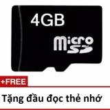 Thẻ nhớ Micro Memory Card SD 4G tặng 01 đầu đọc thẻ chuyên dụng