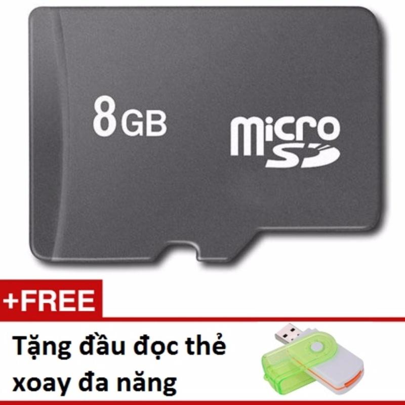 Thẻ nhớ Micro Memory Card SD 8G tặng đầu đọc thẻ xoay đa năng