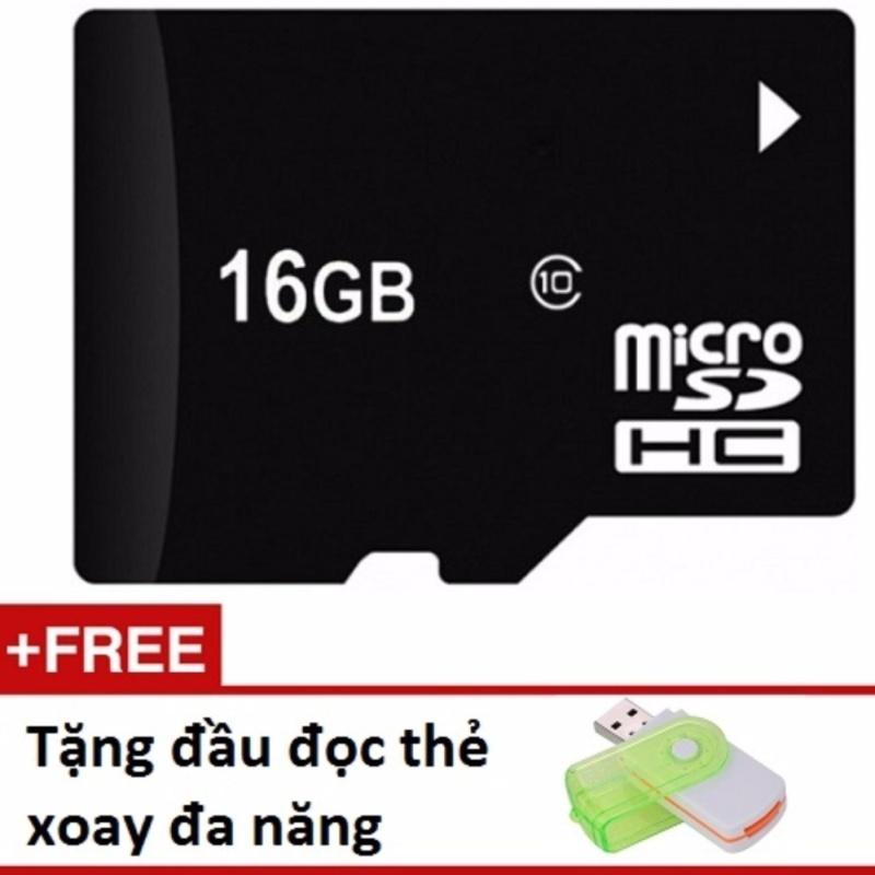 Thẻ nhớ Micro SD 16G tặng 01 đầu đọc thẻ xoay đa năng