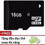 Thẻ nhớ micro SD 16G tặng đầu đọc thẻ đa năng