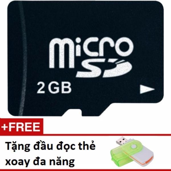 Thẻ nhớ Micro SD 2G tặng 01 đầu đọc thẻ xoay đa năng