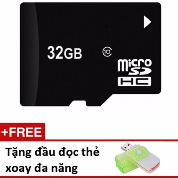 Thẻ nhớ Micro SD 32G tặng 01 đầu đọc thẻ xoay đa năng