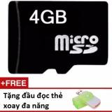 Thẻ nhớ Micro SD 4G tặng 01 đầu đọc thẻ xoay đa năng