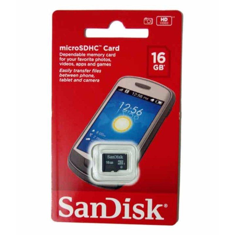 Thẻ Nhớ micro SD Sandisk 16gb (Đen)