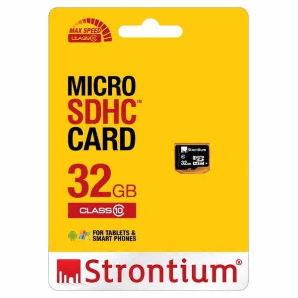Thẻ nhớ Micro SD Strontium 32Gb Class 10 (Đen)