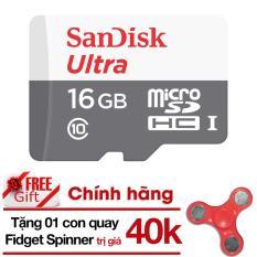 Bán Thẻ Nhớ Micro Sd Ultra Sandisk 16Gbclass10 48Mb S Hangphanphốichinh Thức Tặng Đồ Chơi Con Quay 3 Canh Giup Xả Stress Fidget Spinner Mau Ngẫu Nhien Sandisk Có Thương Hiệu