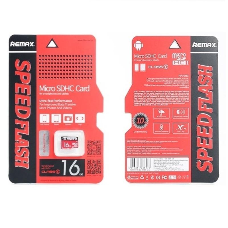 Thẻ nhớ Micro SDHC Remax 16GB (Đỏ)