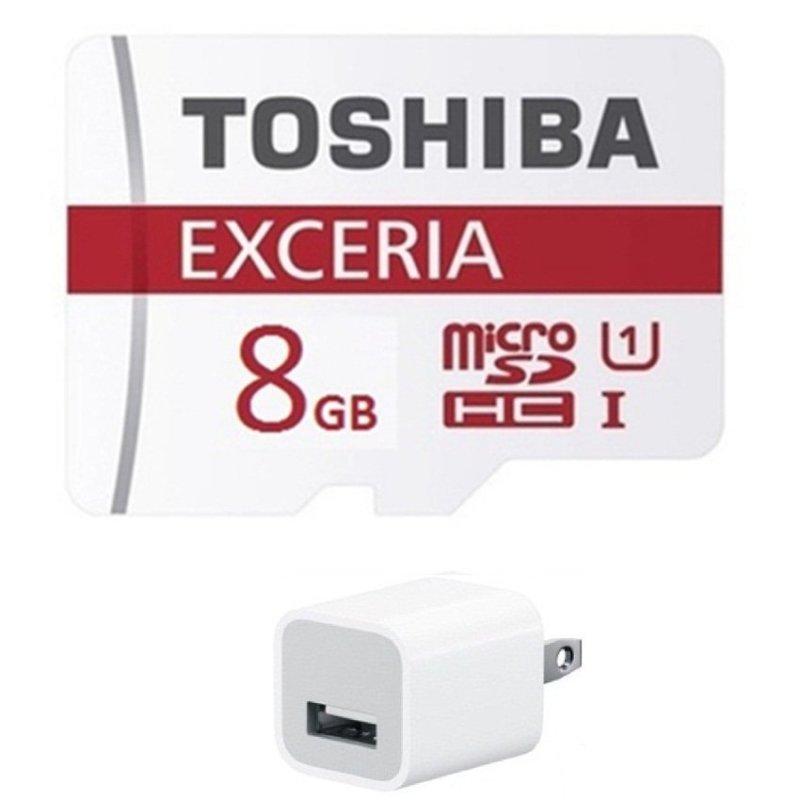 Thẻ nhớ Micro SDHC Toshiba 8G + Tặng Cốc sạc